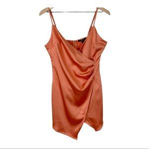 Forever 21 faux wrap satin sleeveless dress size M